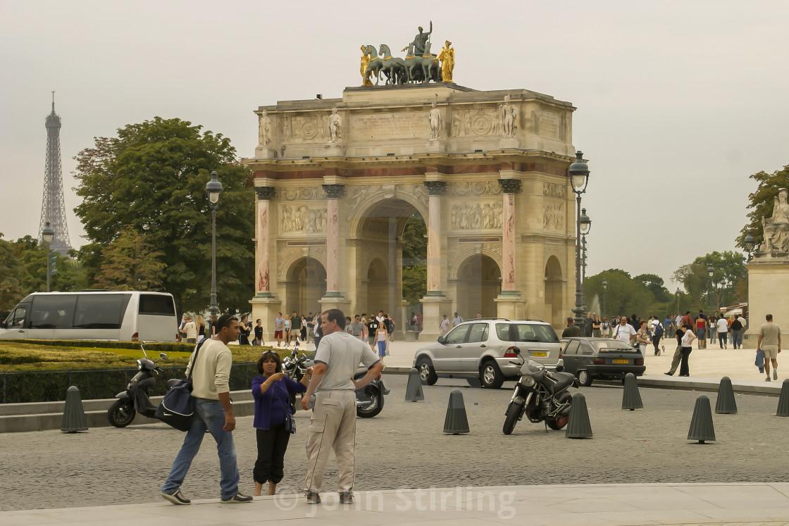 """""""Arc de Triomphe du Carrousel, Paris"""" stock image"""