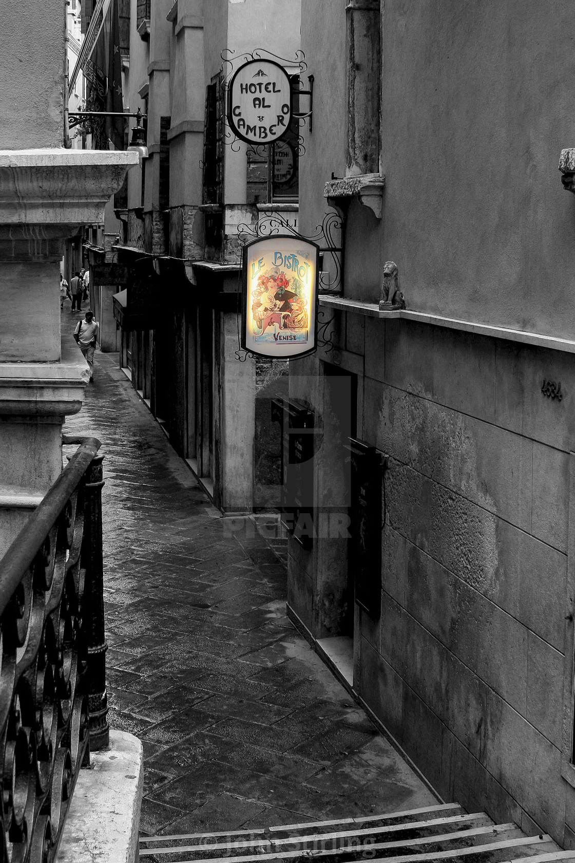 """""""Back Alley in Venice, Italy"""" stock image"""