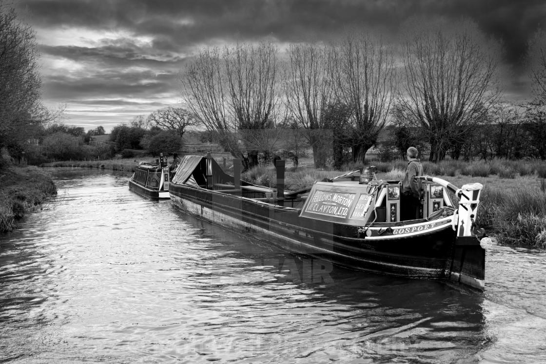 """Narrow Boat Bascote and butty Narrowboat Gosport"" stock image"