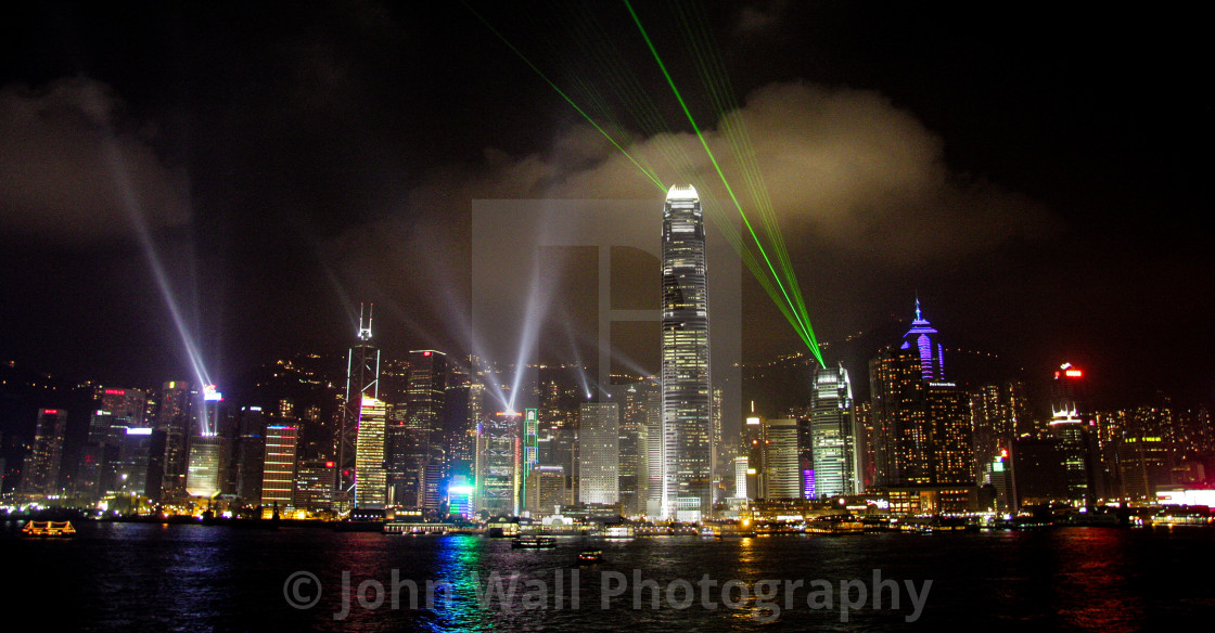 """Light Show Hong Kong Island"" stock image"