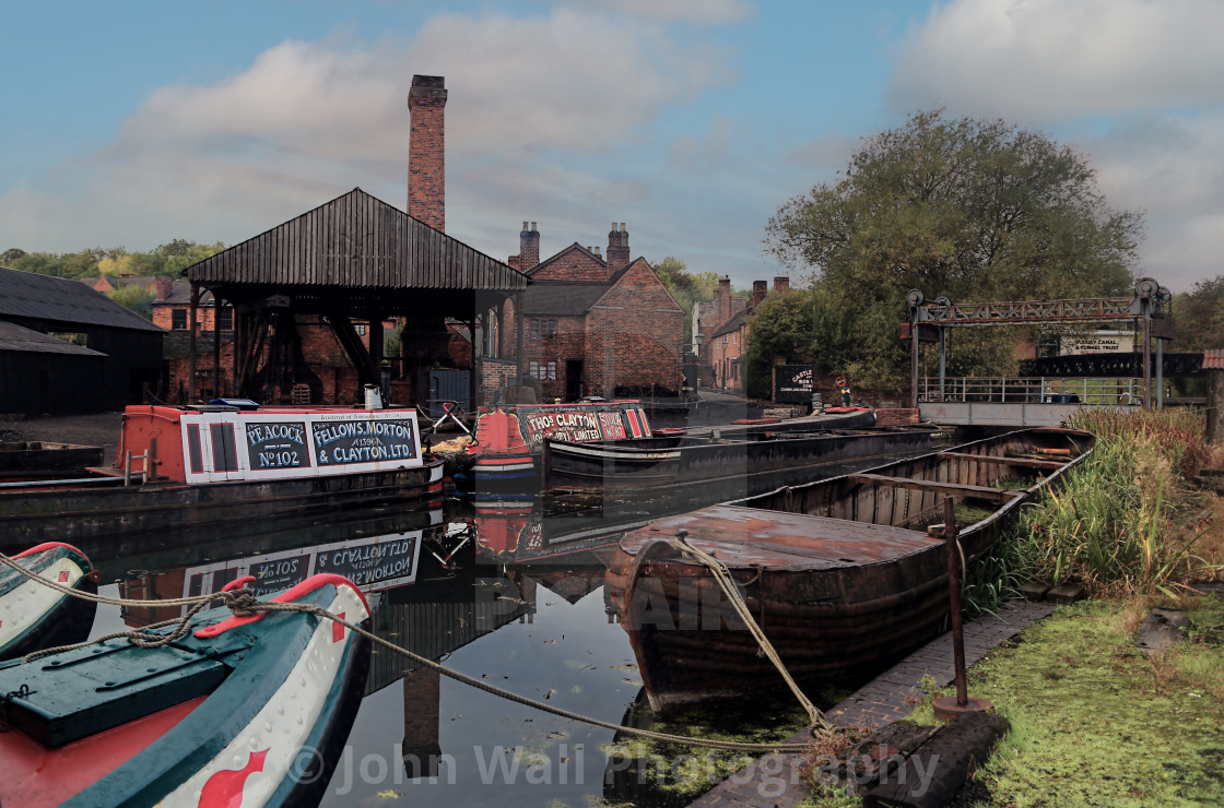 """Black Country Museum Canal dock"" stock image"