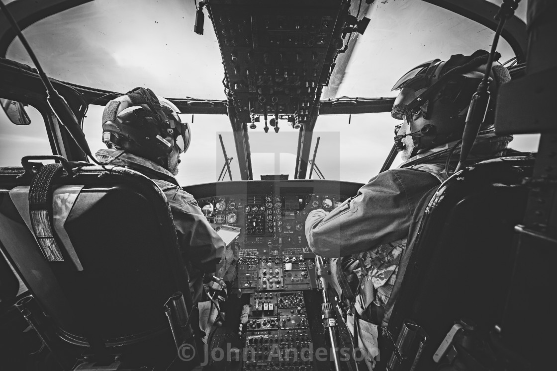 """""""Sea King Helicopter Pilots"""" stock image"""