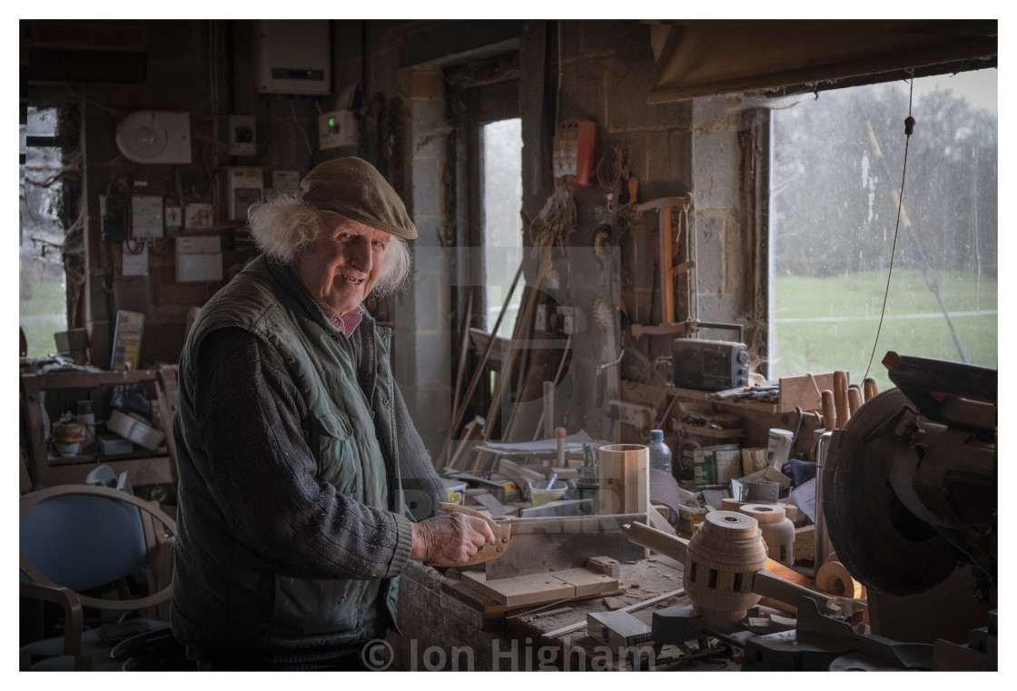 """Carpenter in his workshop"" stock image"