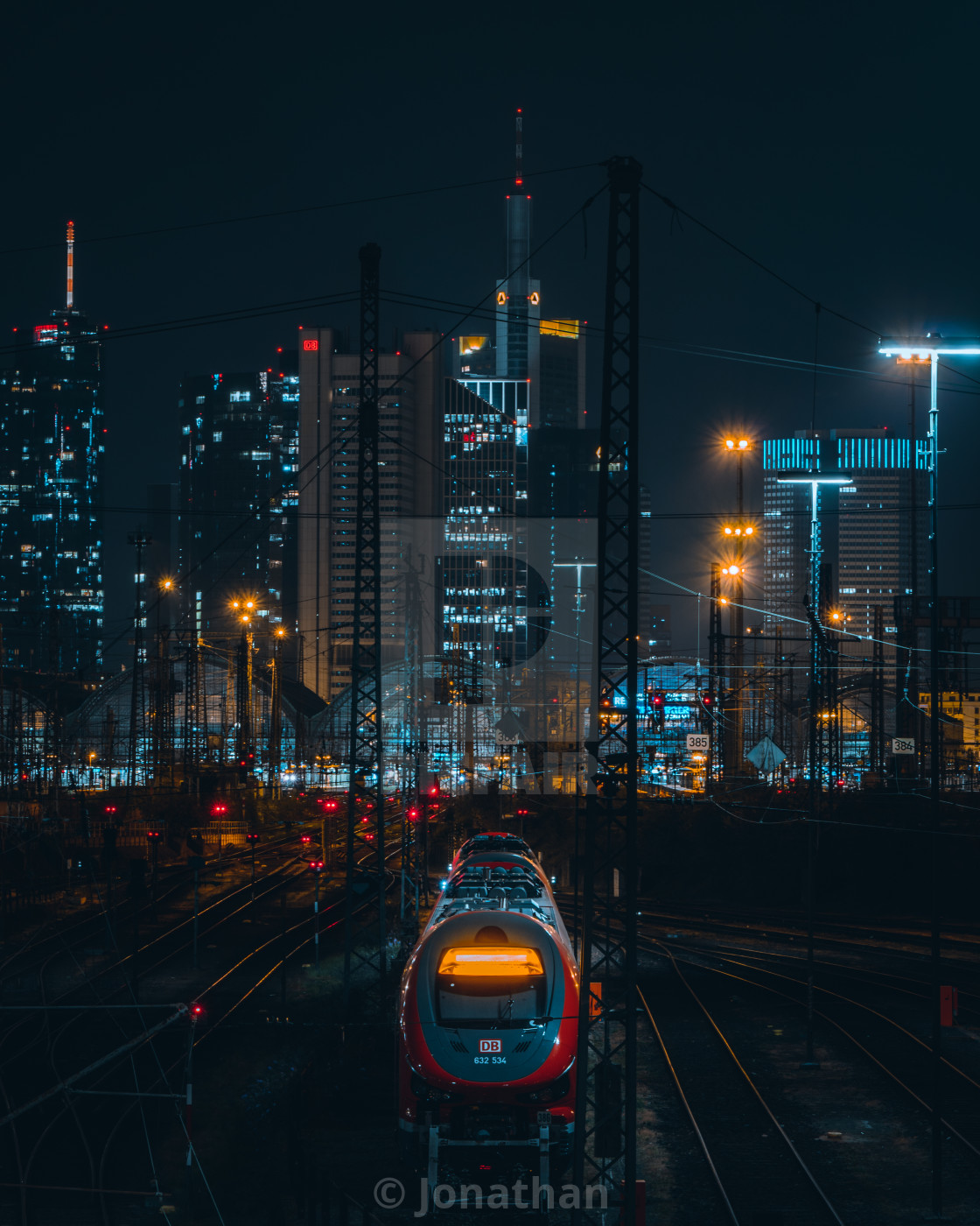"""Frankfurts Trainskyline"" stock image"