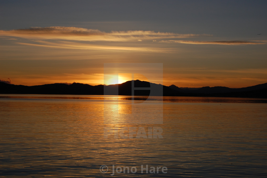 """Norwegian Sunset 4"" stock image"