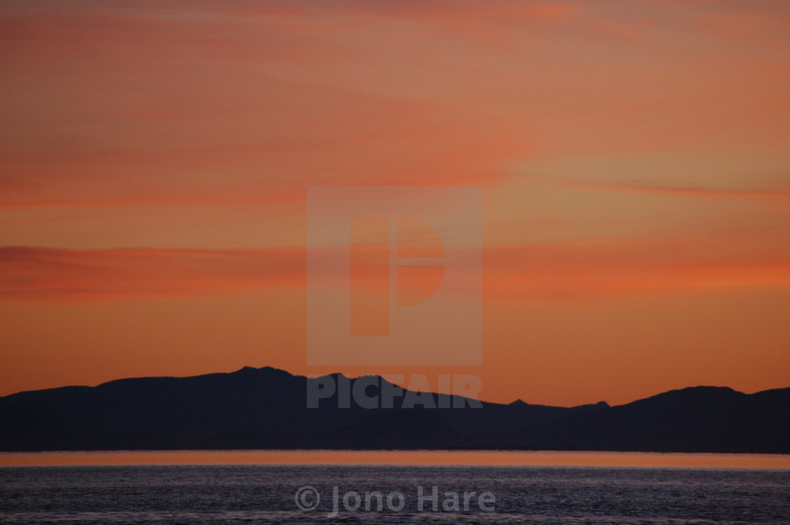 """Norwegian Sunset 3"" stock image"