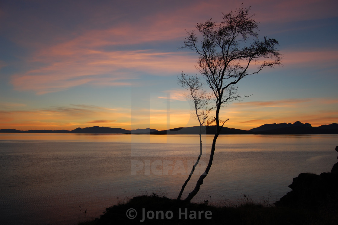 """Norwegian Sunset"" stock image"