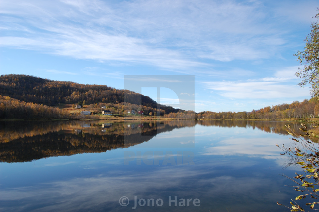 """Norway Reflection"" stock image"