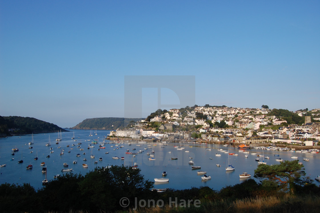 """Salcombe at Dawn"" stock image"