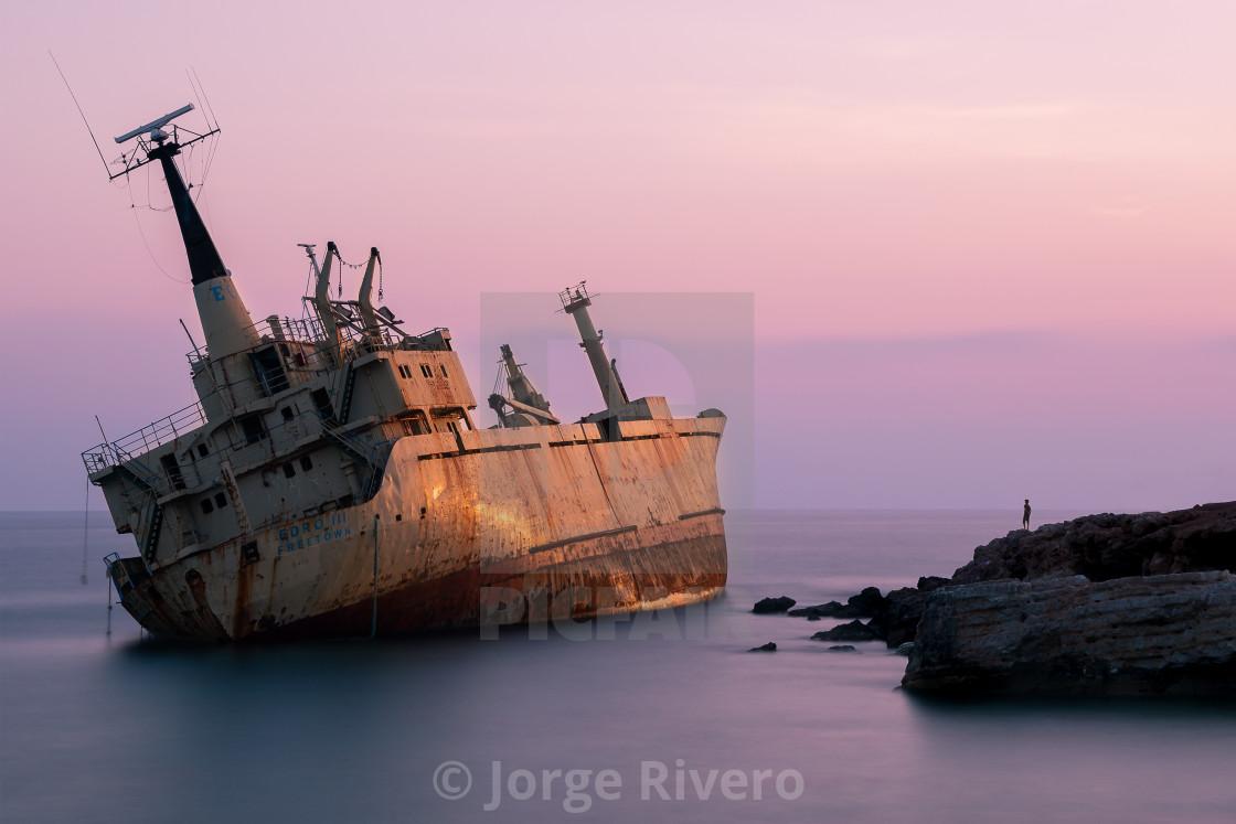 """The Edro III Shipwreck"" stock image"