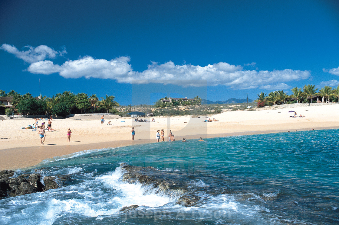 """""""Santa Maria Beach, early 1990's, Cabo San Lcucas"""" stock image"""