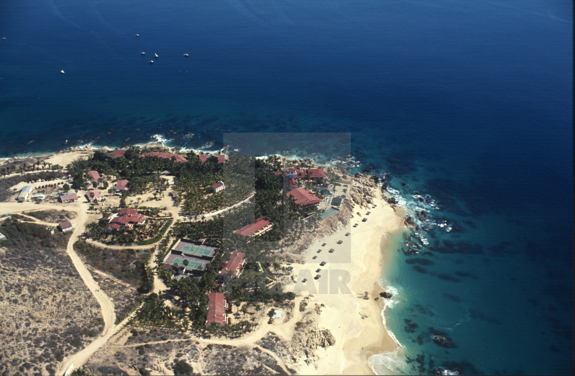 """Aerial View of Palmilla Point 1993"" stock image"