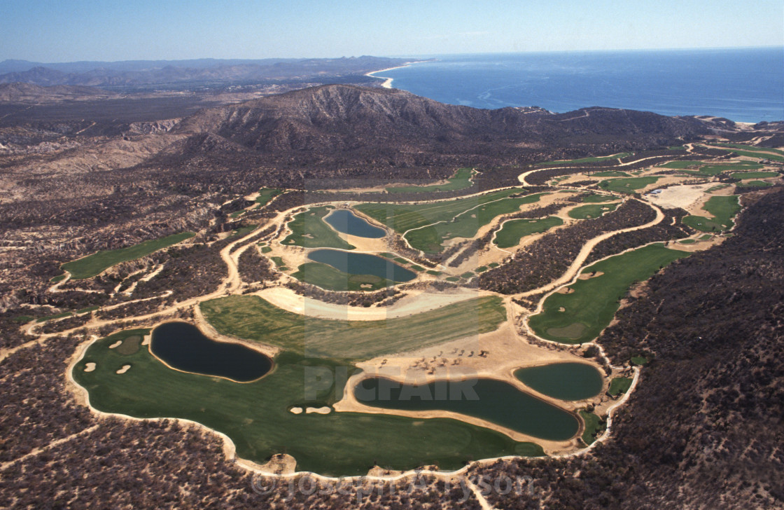 """Aerial View of Palmilla Point Golf Course, 1993"" stock image"