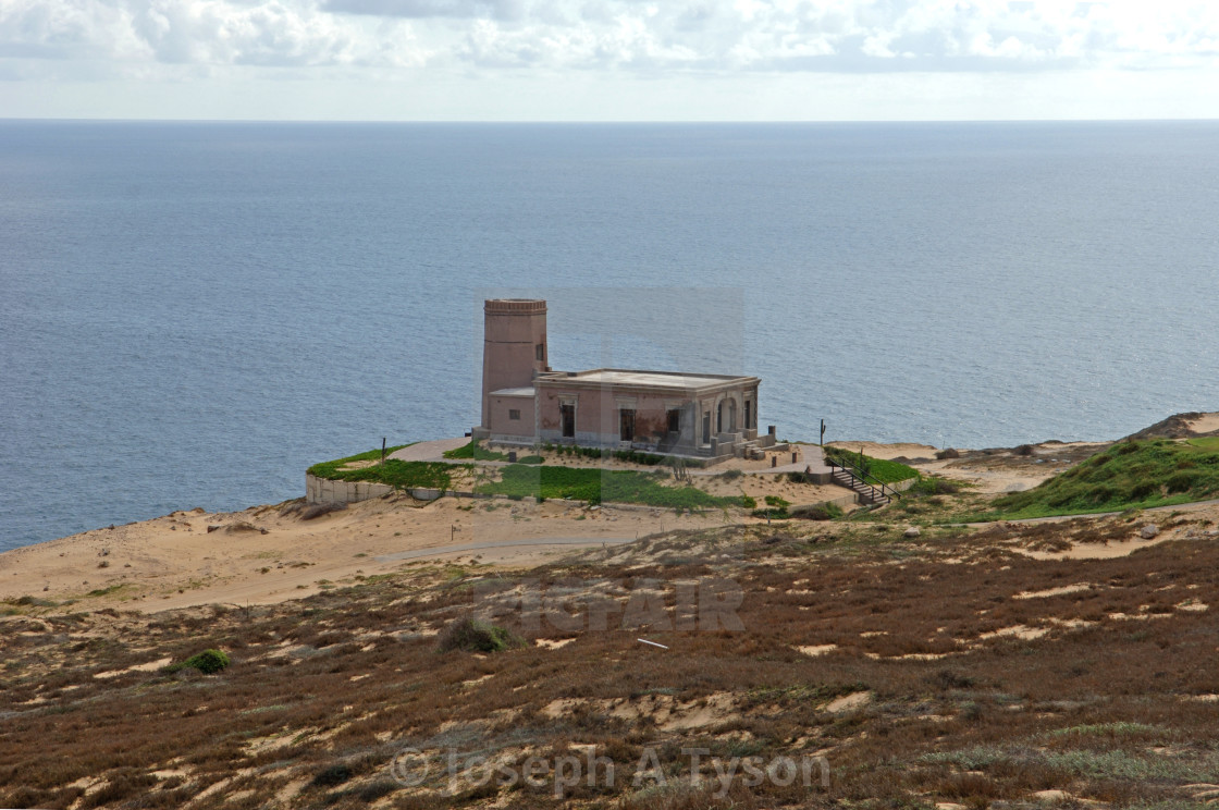 """The restored El Faro Viejo, The Old Lighthouse, Cabo , 2015"" stock image"