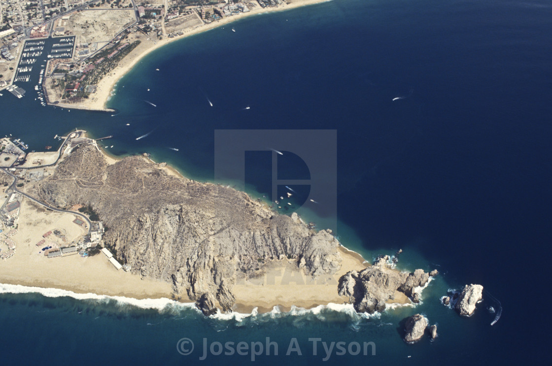"""Aerial View of Land's End Cabo San Lucas 1991"" stock image"