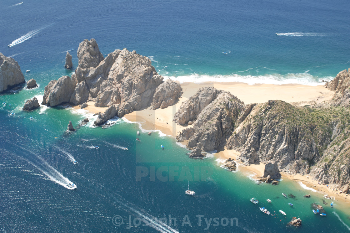 """Aerial View of Lands End Cabo, 2012"" stock image"