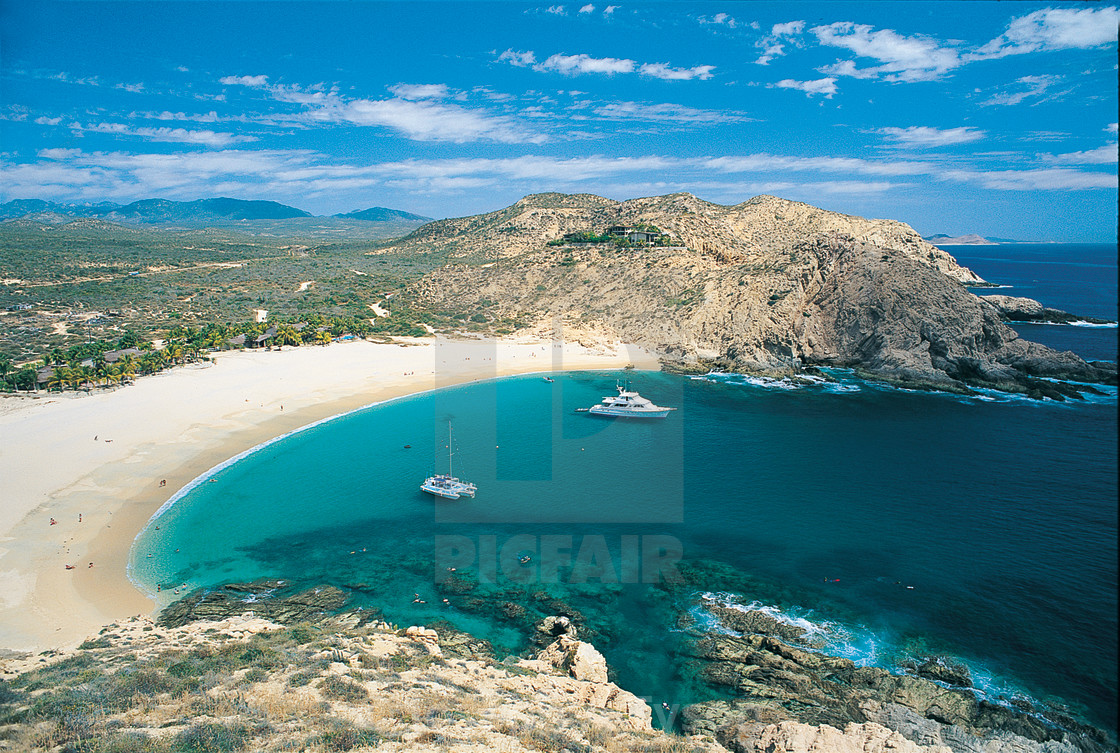 """Santa Maria Bay and Beach, Tourist Corridor, Cabo San Lucas, PC-103"" stock image"