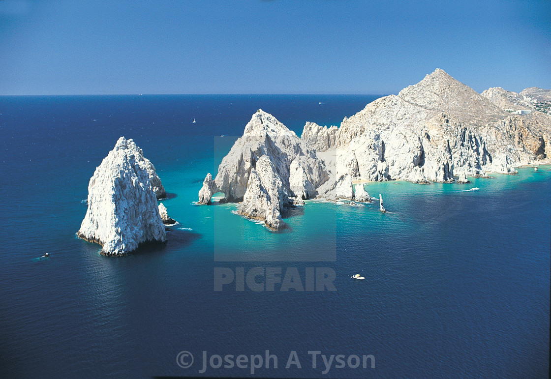 """Aerial View of Land's End Cabo San Lucas, Los Cabos"" stock image"