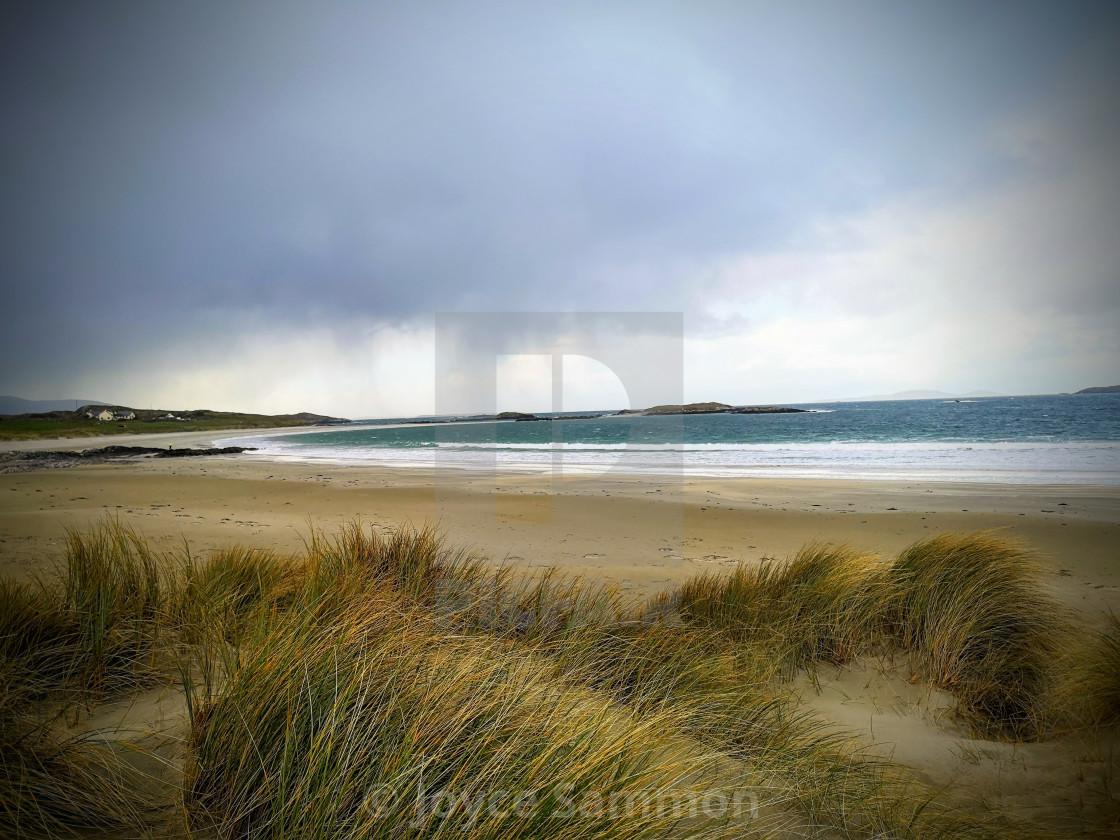 """Glassilaun beach"" stock image"