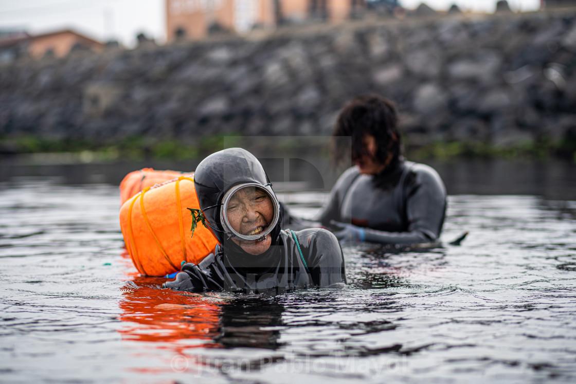 """Jeju divers"" stock image"