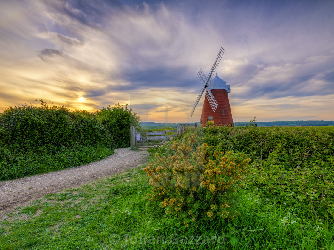"""""""Halnaker windmill in the South Downs National Park, West Sussex,"""" stock image"""