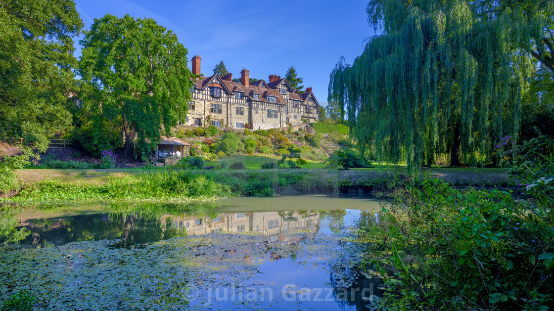 """""""Stedham Hall and the River Rother in West Sussex"""" stock image"""