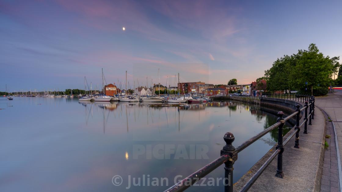 """Fareham Old Town Quay, Hampshire, UK"" stock image"