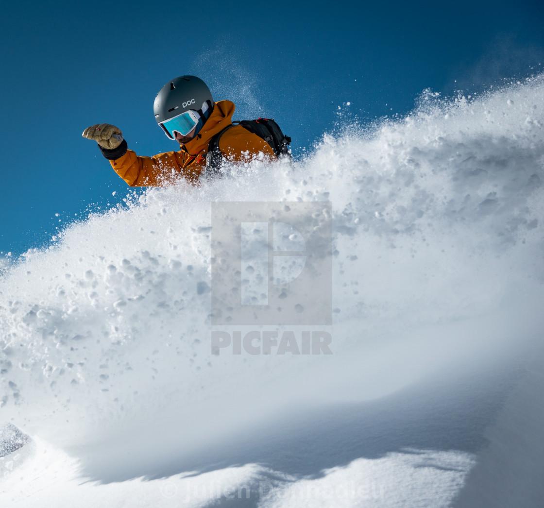 """Powder sessions in Chamonix"" stock image"