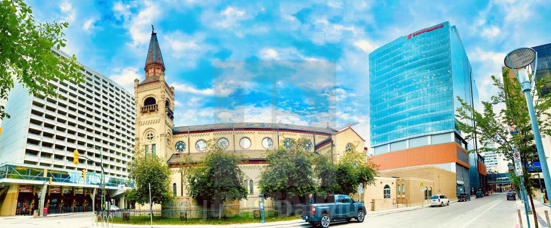 """Capturing the Spirit of Downtown Winnipeg"" stock image"