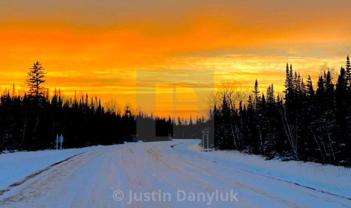 """Hecla Island Sunset"" stock image"
