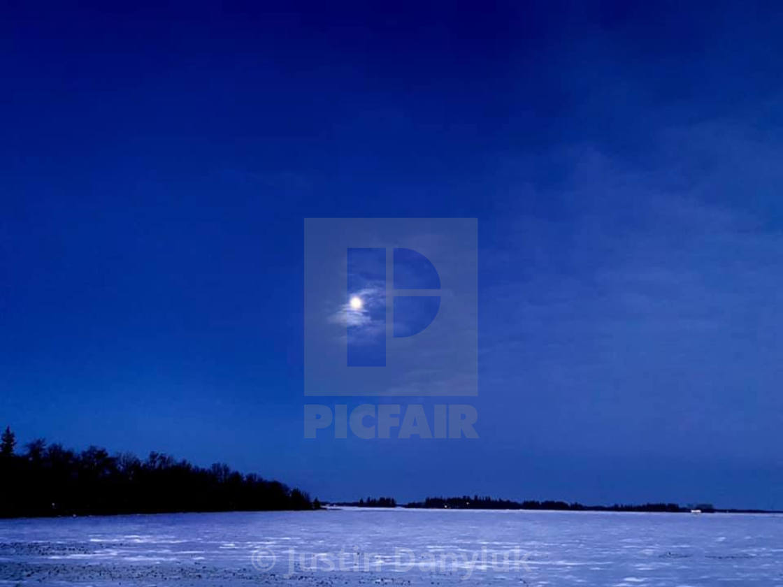 """""""A Winter Moon"""" stock image"""