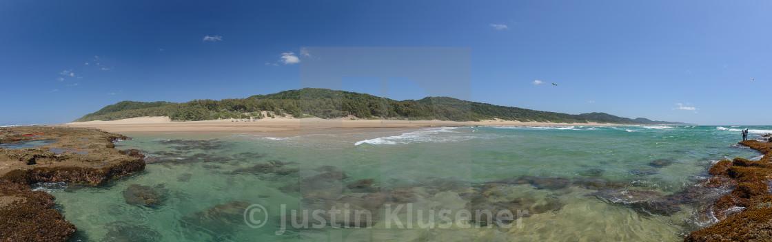 """Cape Vidal Panorama"" stock image"