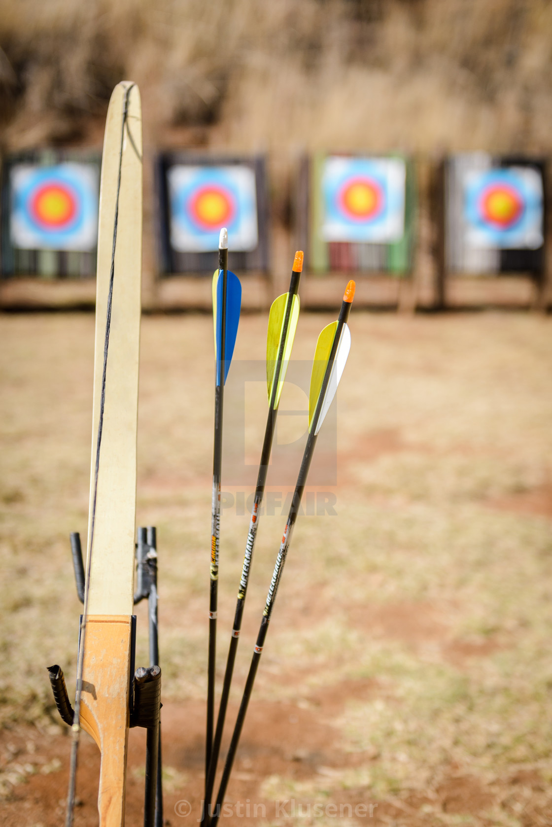 """""""Bow and three arrows"""" stock image"""
