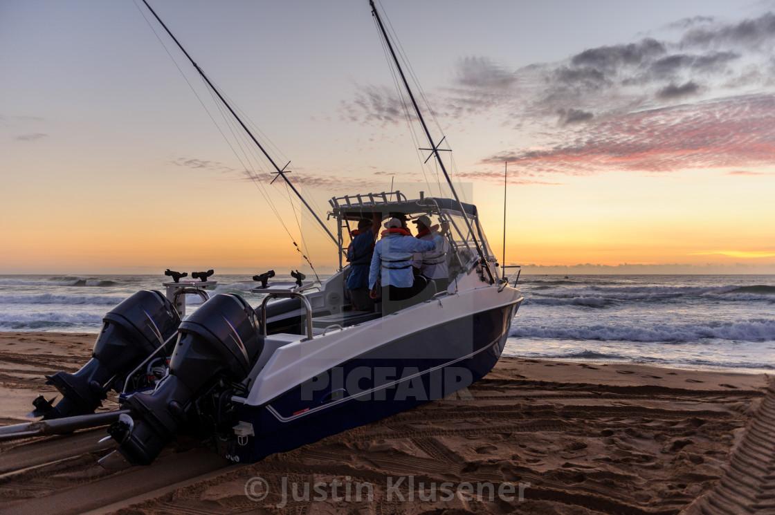 """Ski Boat launching"" stock image"