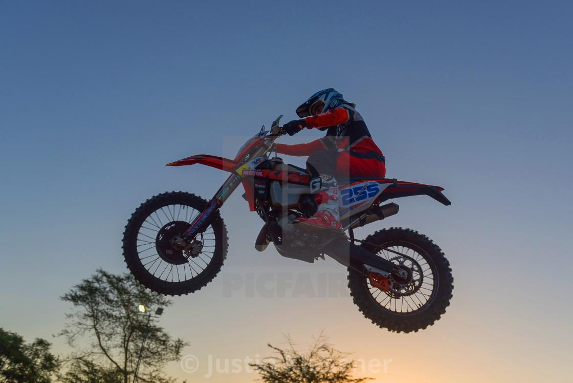 """Motorcycle Jump"" stock image"