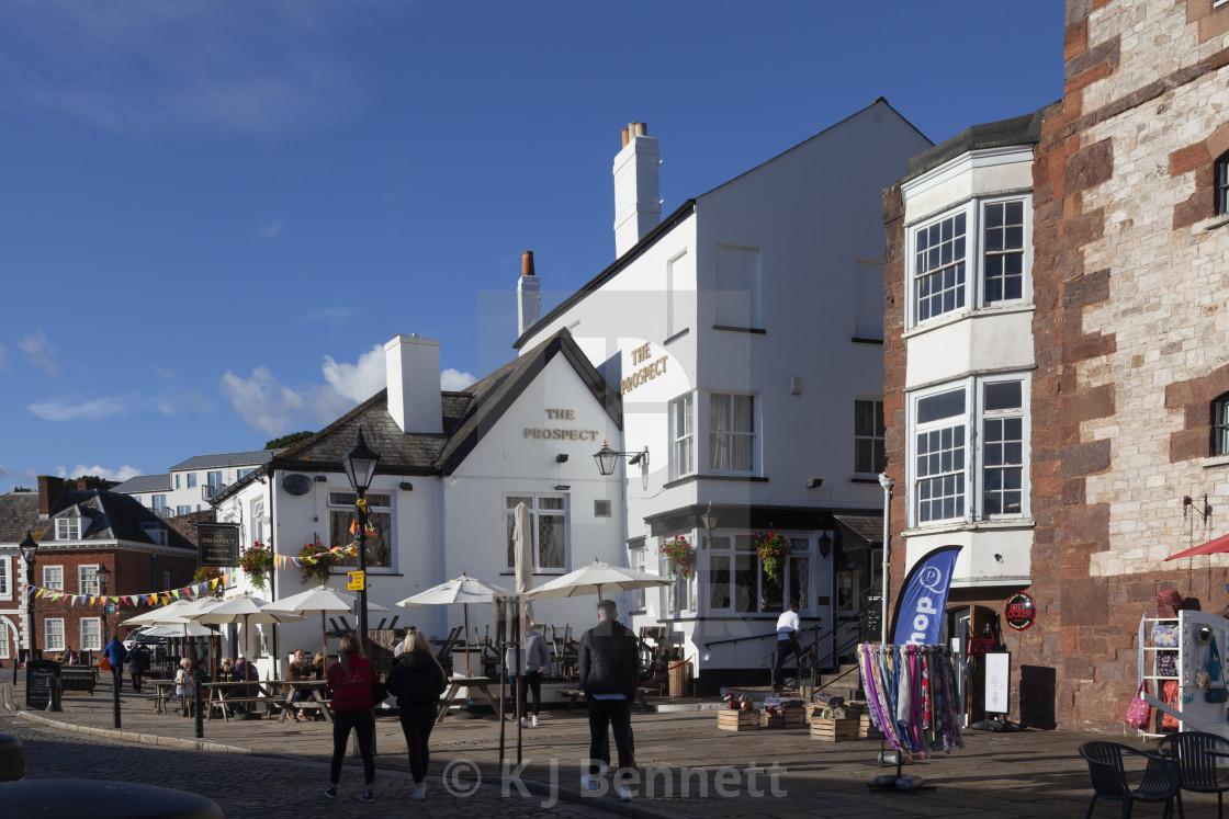 """The Quay, Exeter, Devon, England, UK"" stock image"