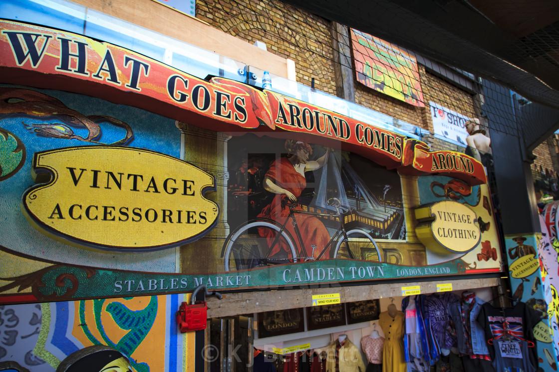 """Vintage Shop, Camden Stables Market, Camden Market, Camden Town, North West London, England, UK"" stock image"