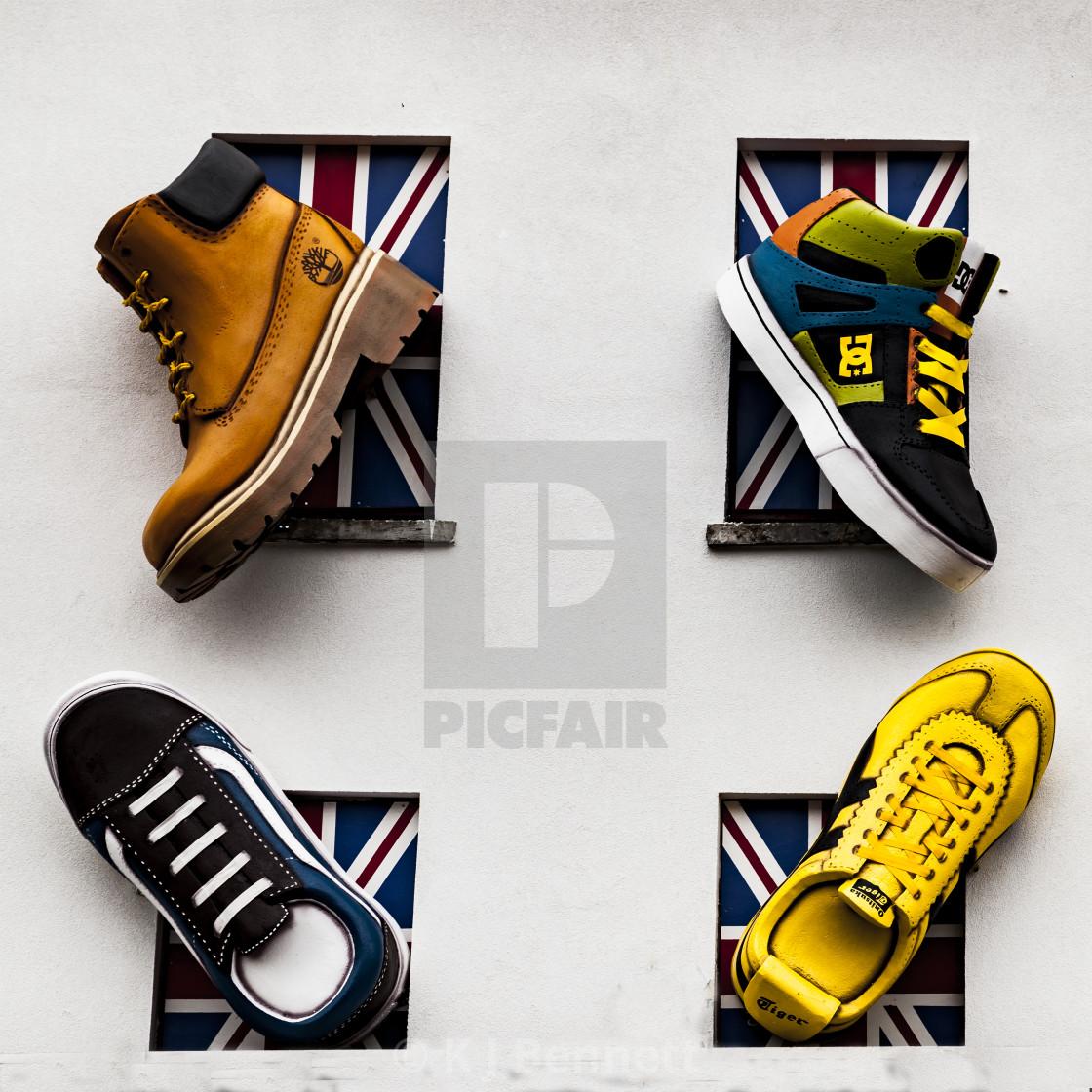 """Footwear Stockist, Camden Town, North West London, England, UK"" stock image"