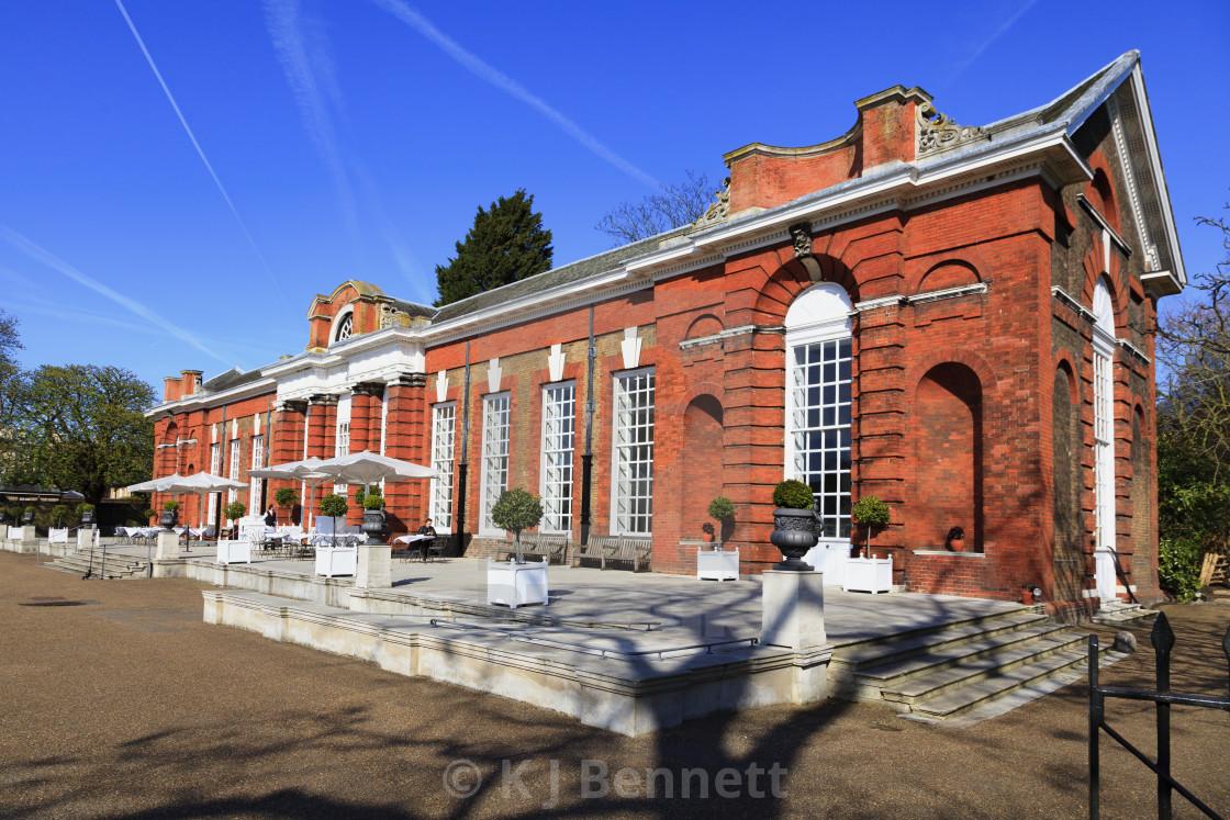 """The Orangery Restaurant, Kensington Palace, Kensington Gardens, London W8 4PX, England, UK"" stock image"