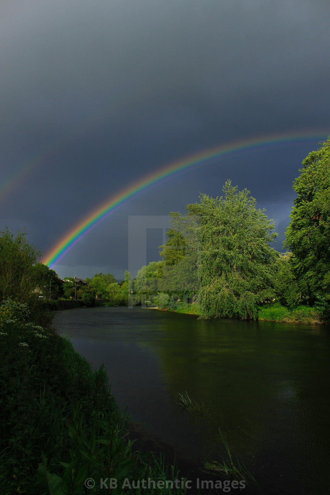 """Rainbow Over The Nore"" stock image"