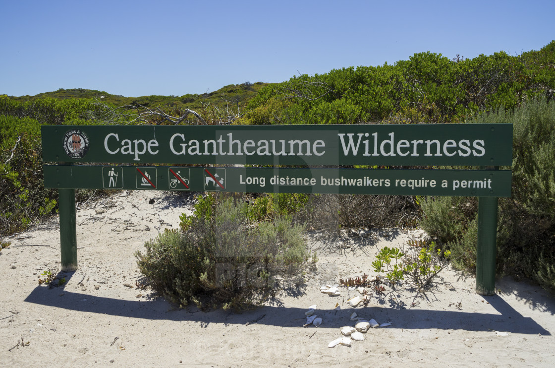 """Cape Gantheaume Wilderness"" stock image"