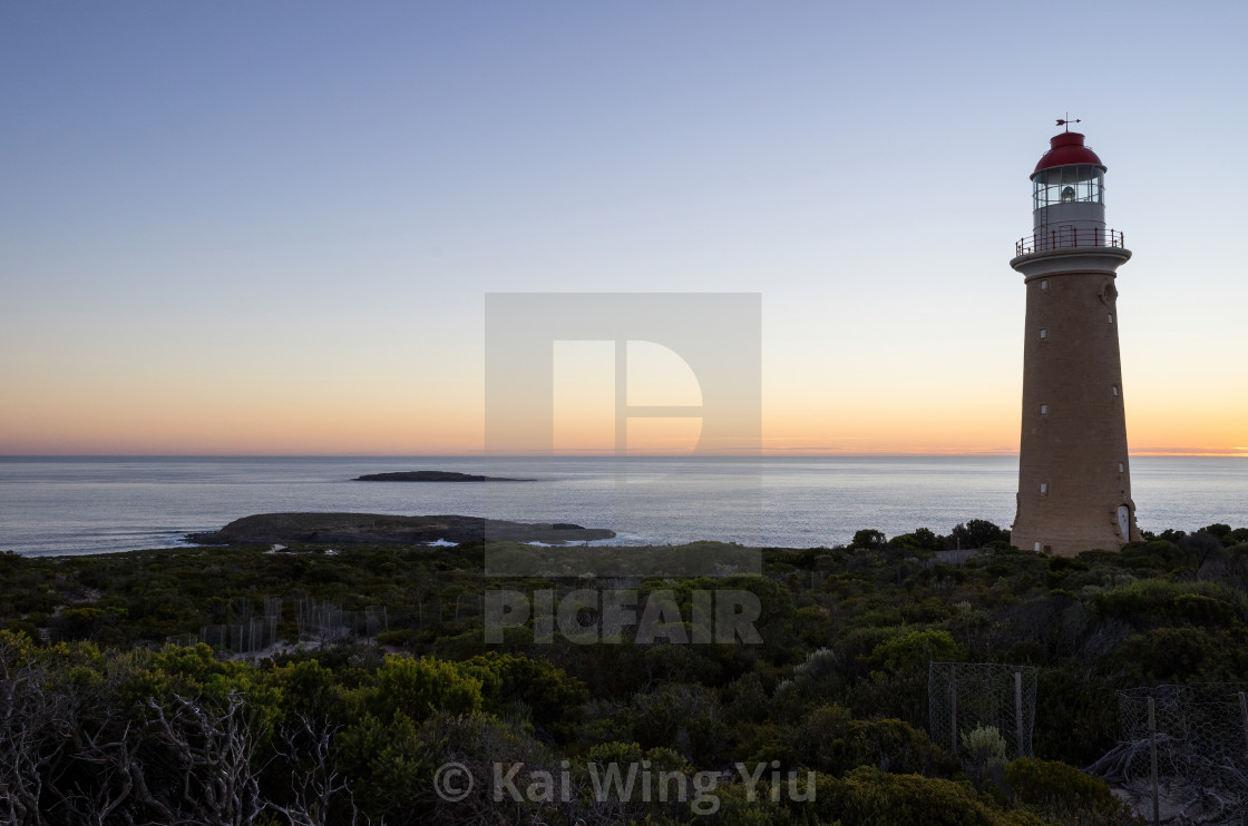 """The iconic Cape De Coudic Lighthouse"" stock image"