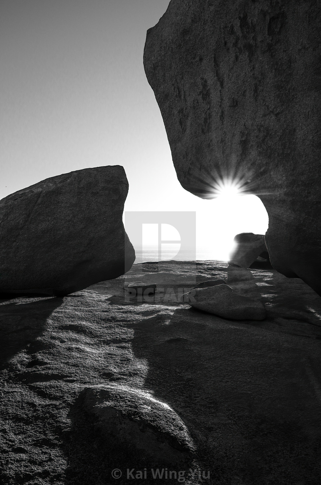 """Sunrise at Remarkable Rocks"" stock image"