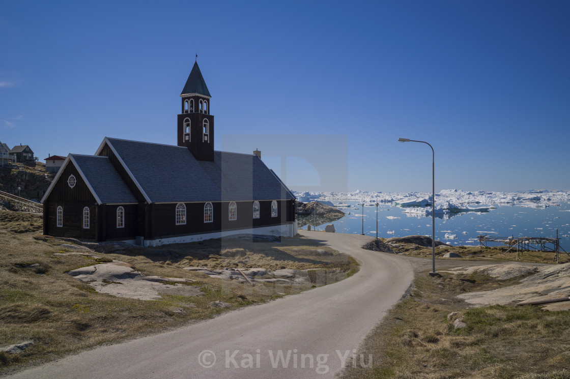 """The church, Ilulissat"" stock image"