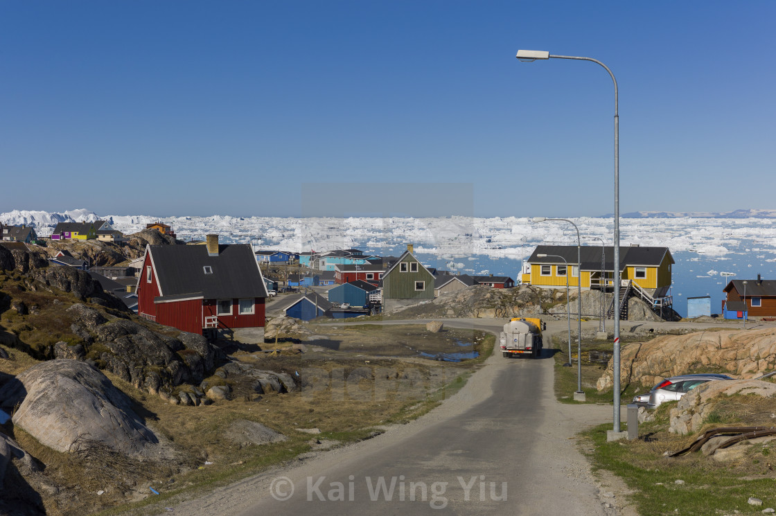 """The street of Ilulissat"" stock image"