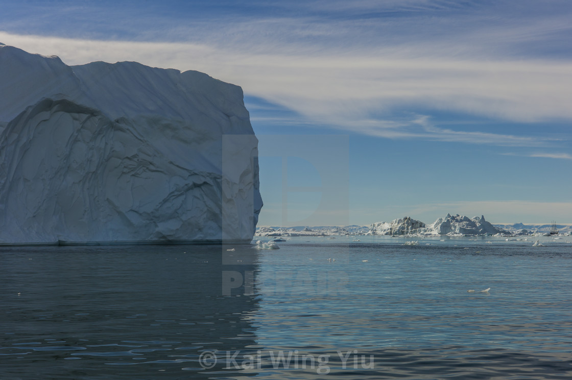 """The floating rock, Ilulissat"" stock image"