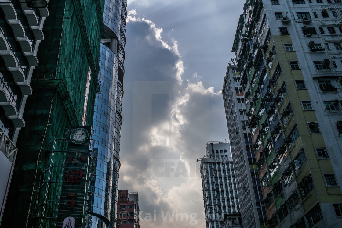 """The magic of clouds, Hong Kong"" stock image"