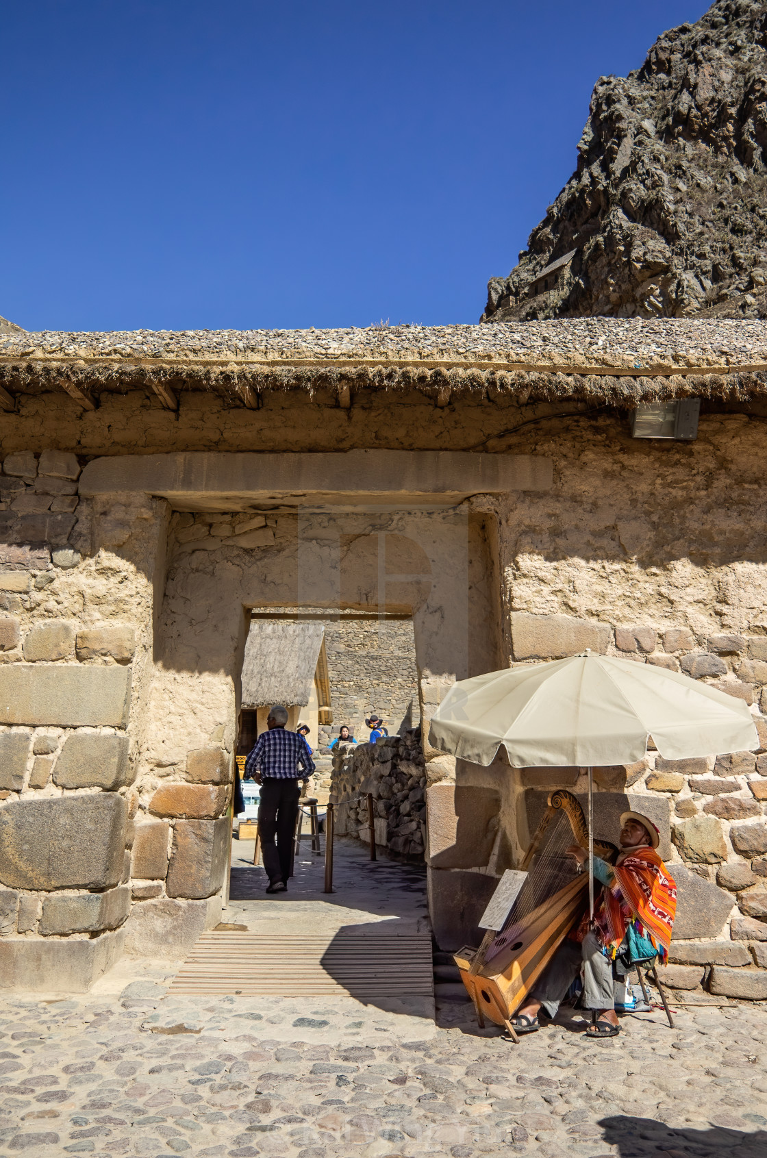 """The Entrance of Ollantaytambo Sanctuary"" stock image"