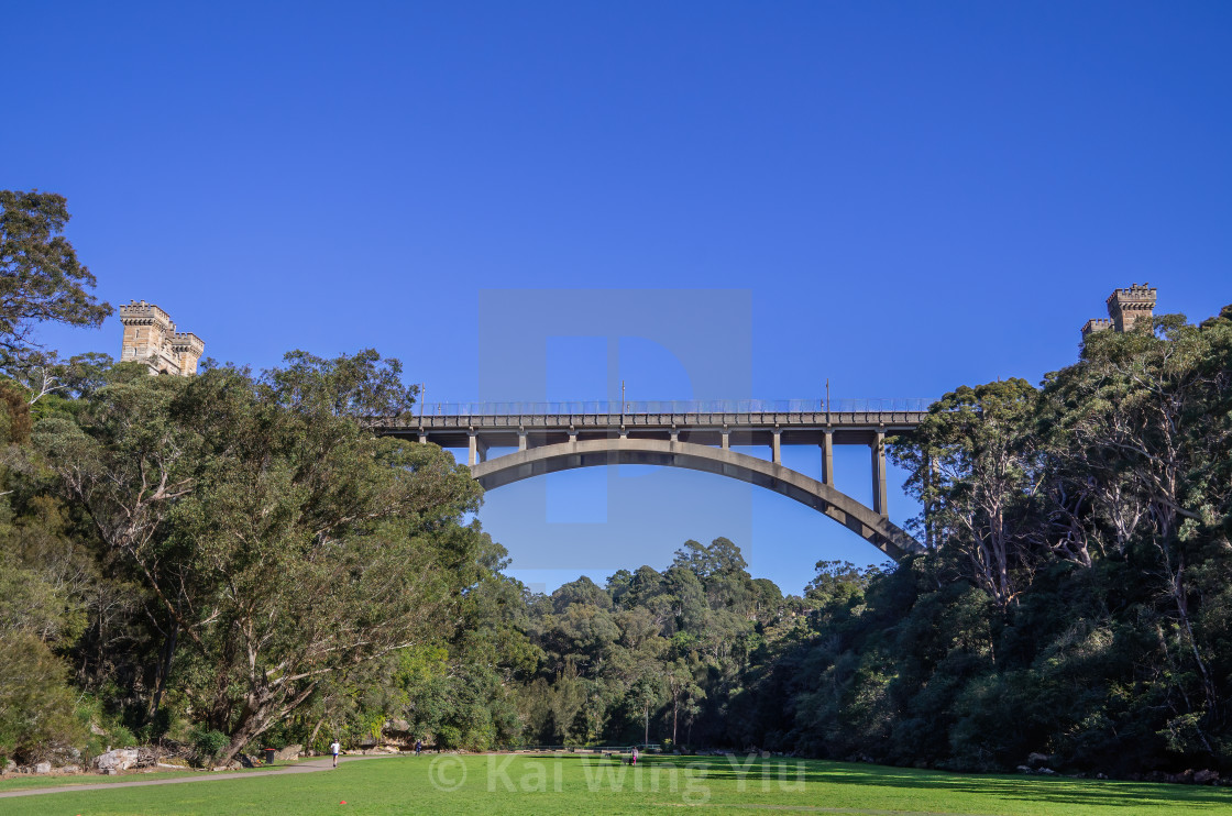 """Long Gully Bridge, Cammeray, Sydney"" stock image"