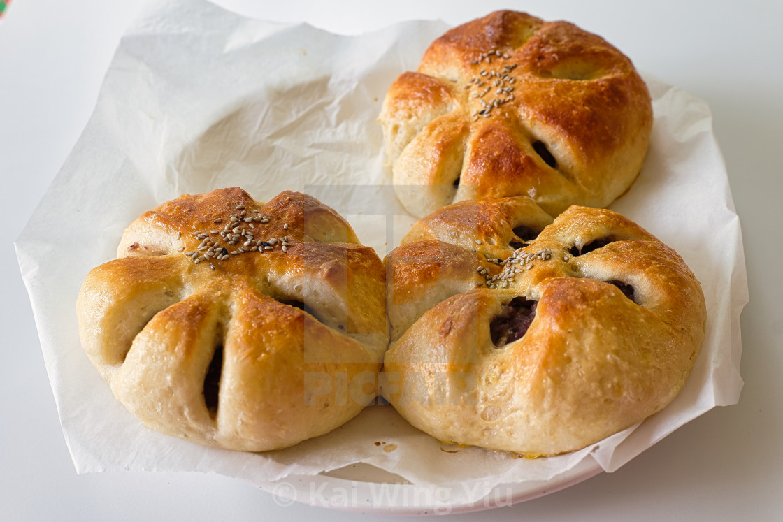 """Red bean buns"" stock image"